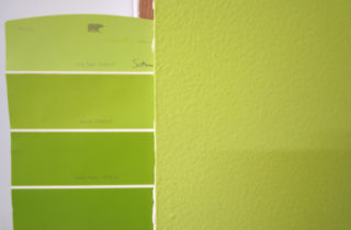 Paint color after 3 coats