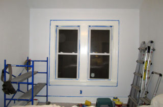 Painted the trim on that one wall