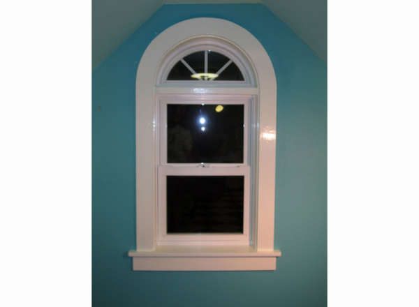 Painted the window trim