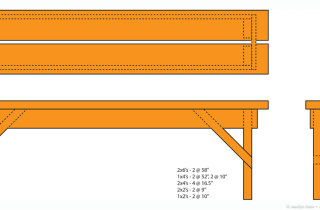 Garden bench design