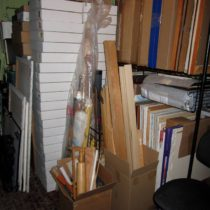 Studio now filled entirely with stuff from the storage room