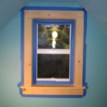 Taping up window #2