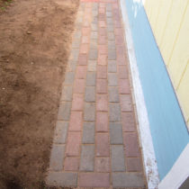 The finished patio-walkway