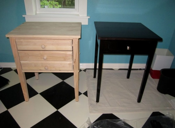 Then a month of finishing and varnishing the cabinets, desktops, and edging