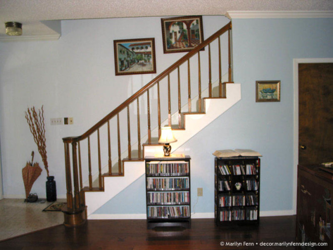 Under the stairs - before