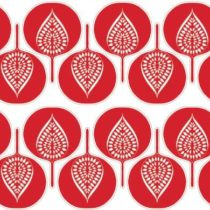 Very cool pattern in red and white