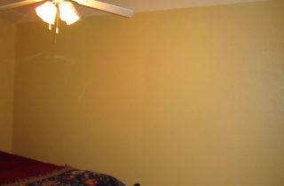 We'll be putting up crown molding (complete with rope lights) where one color meets the other