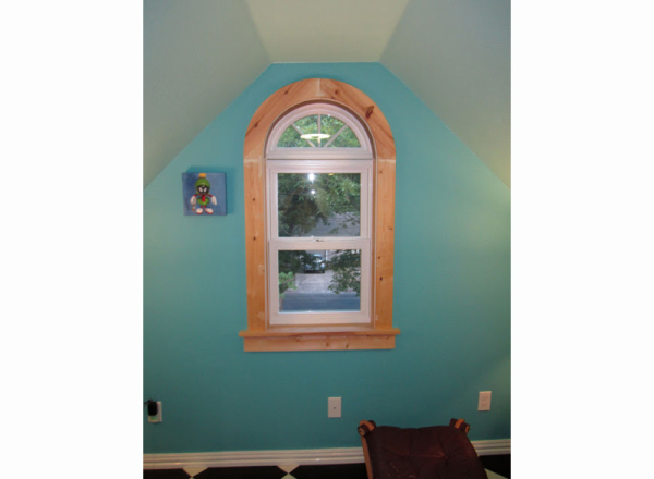 With the completed window trim