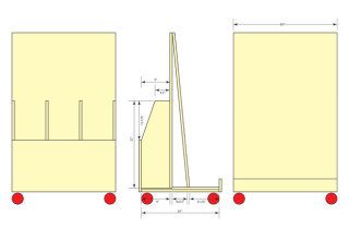 Wood Storage Cart