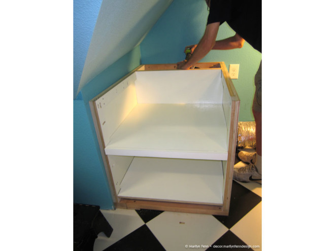 4 - Added back and side walls, and bottom and inner shelf