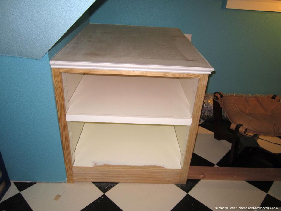 7 - Added trim to top shelf