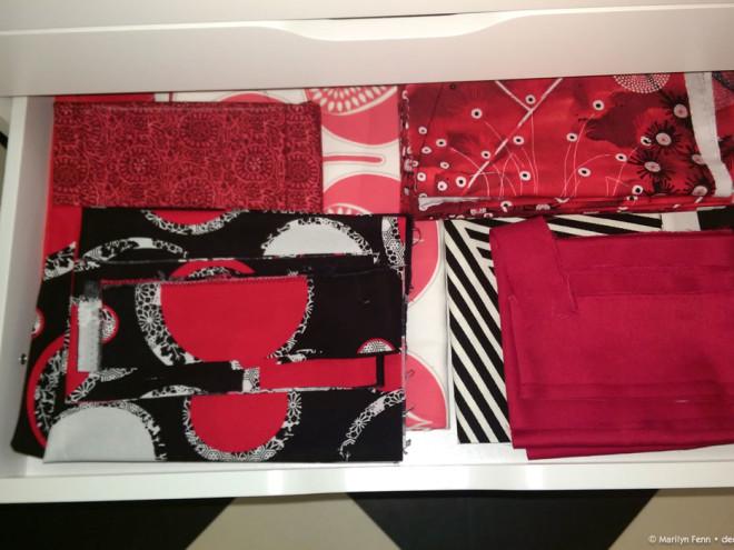 Alex drawers for fabric storage