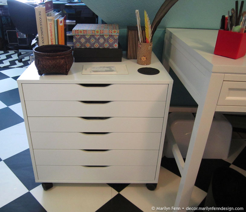 New Alex drawers for fabric storage