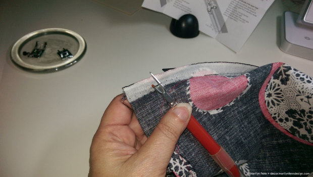 Remove the basting stitches holding both sides together