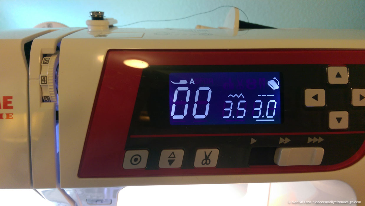 how to set stitch length on sewing machine