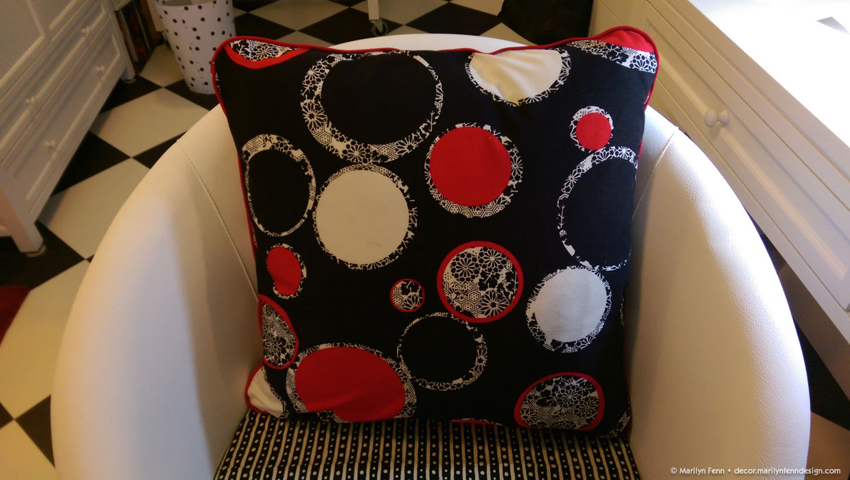 Sewing Throw Pillow With Zipper And Piping : Sewing a Pillow with Both Piping and Invisible Zipper Marilyn Fenn Decor