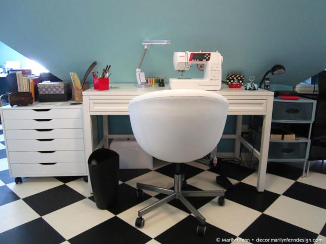 Sewing table setup