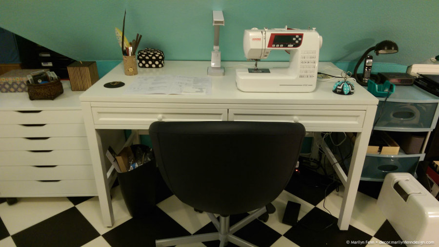 Sewing table setup