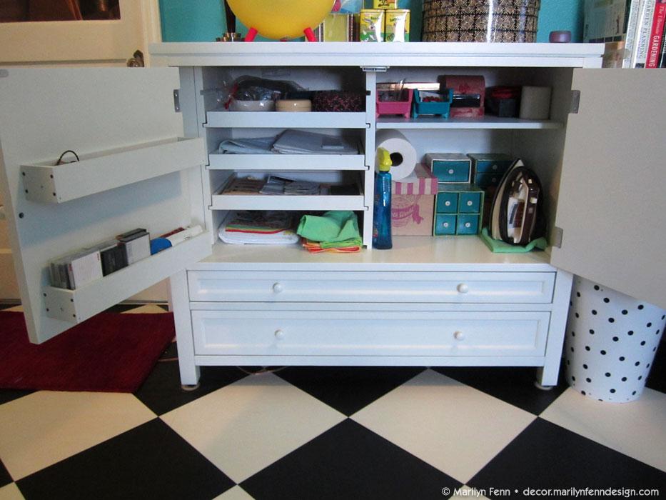 Storage cabinet-open