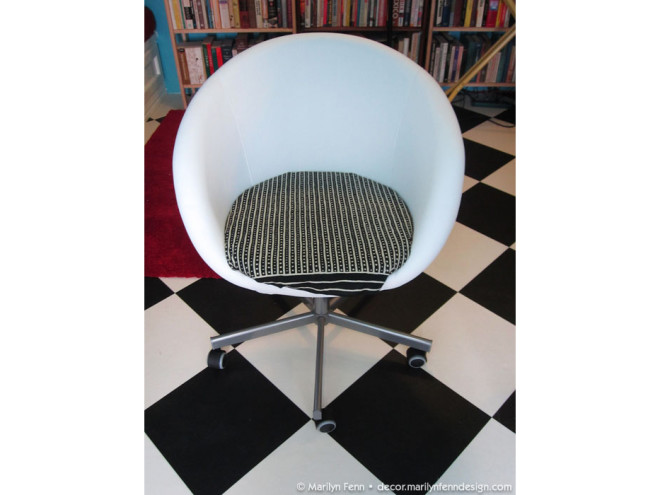 Temporarily embellished Ikea Skruvsta chair