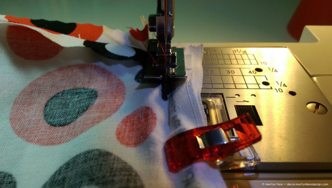 Using the ditch quilting presser foot