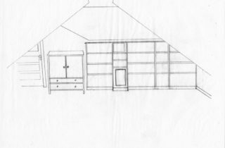 Interior Illustration-Attic Remodel Sketches-Bookshelves-02