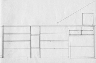 Interior Illustration-Attic Remodel Sketches-Bookshelves-03