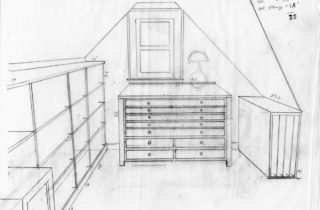 Interior Illustration-Attic Remodel Sketches-Flat Files-03