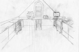 Interior Illustration-Attic Remodel Sketches-Office Space-02
