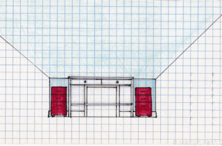 Interior Illustration-Attic Remodel Sketches-Sewing Table-02