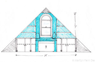 Interior Illustration-Attic Remodel Sketches-Small Bay Area-01