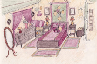 Interior Illustration-Bedroom-01