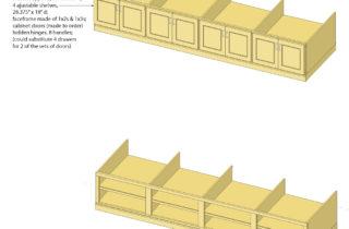 Interior Illustration-Studio Shelving System, base cabinet unit-base cabinet unit
