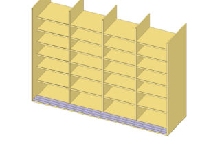 Interior Illustration-Studio Shelving System, base cabinet unit-bookshelves