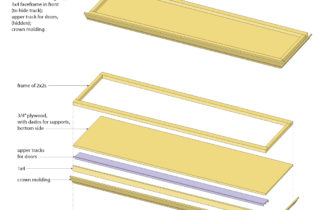 Interior Illustration-Studio Shelving System, base cabinet unit-top unit