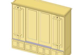 Interior Illustration-Studio Shelving System, base cabinet unit-whole unit