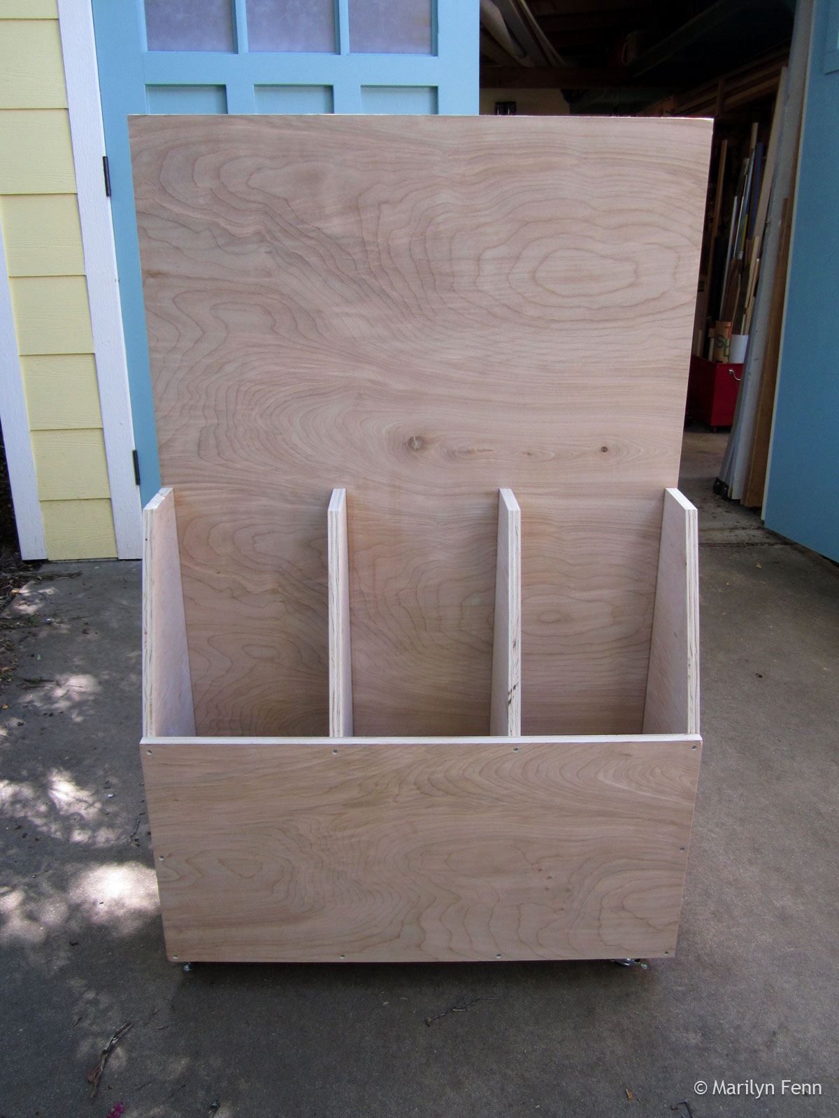 Building A Small Wood Storage Cart Marilyn Fenn Decor